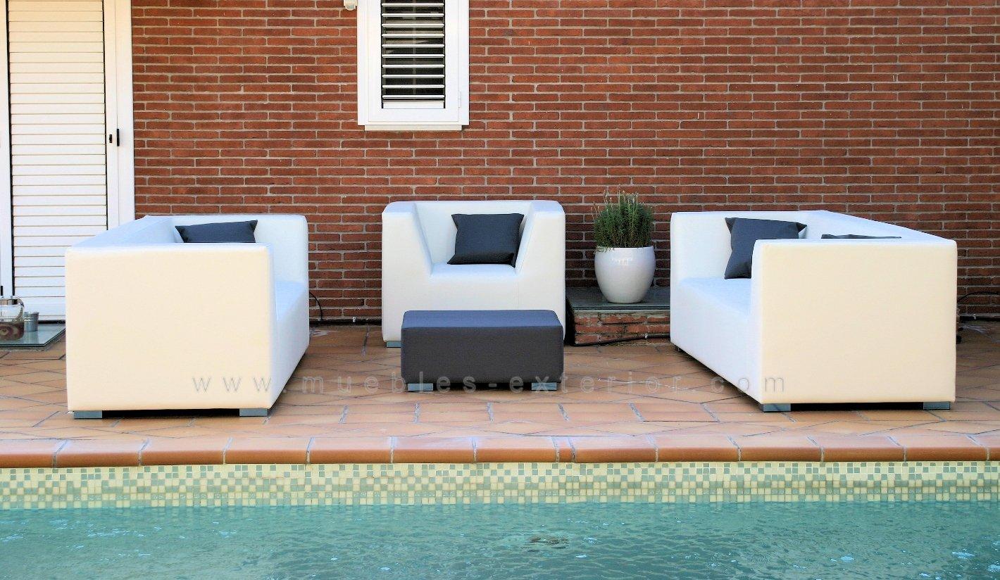 Sofa jardín Impermeable 2 plazas 168 cm.