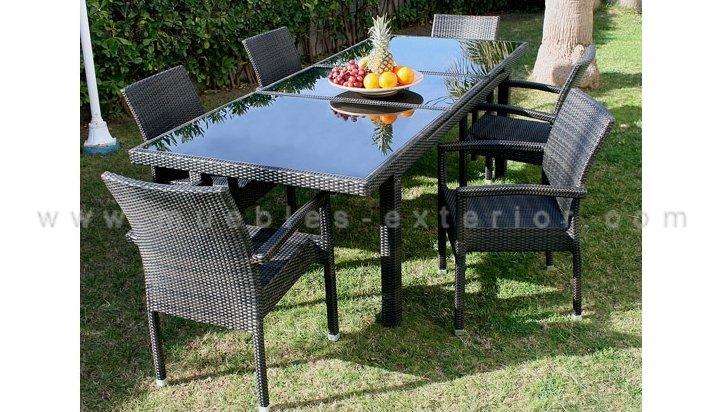 Muebles De Rattan Para Exterior : Mesas de exterior y sillas asturias