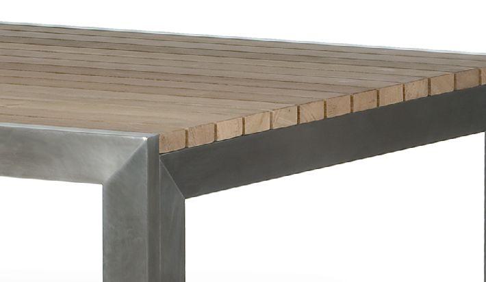 Mesa de jardin acero 160x100 - Mesas para exterior ...