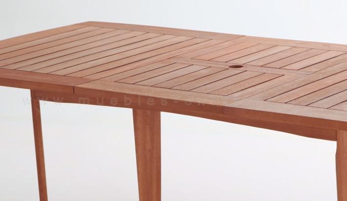 Mesa de exterior madera ampliable 160 220x110 - Mesa de madera exterior ...