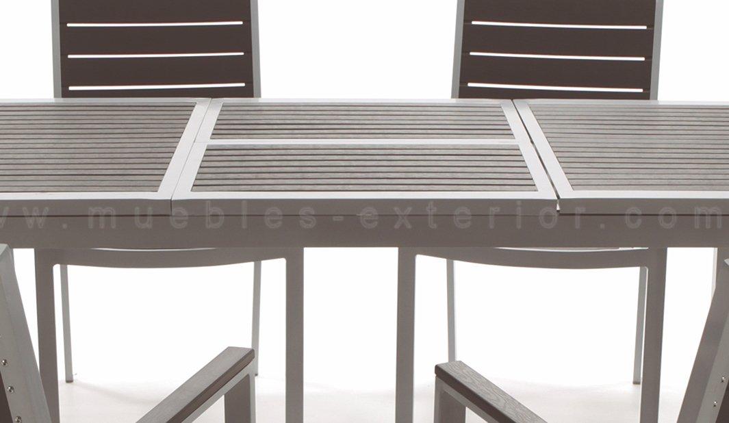 Mesa de jard n extensible for Mesa y sillones para jardin
