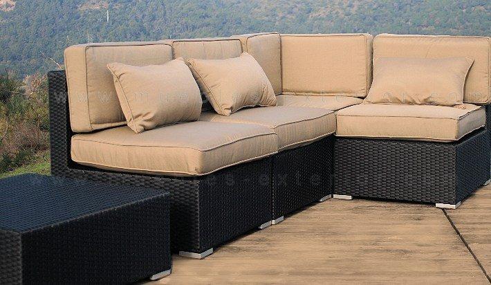 Sof de exterior lleida m dulo central - Cojines para muebles de jardin ...