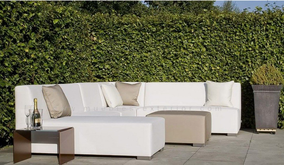 sof central sin brazos 143 cm impermeable 905 cm profundo - Sofas De Jardin Baratos