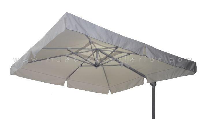 Parasol de brazo lateral blanco - Parasoles para jardin ...