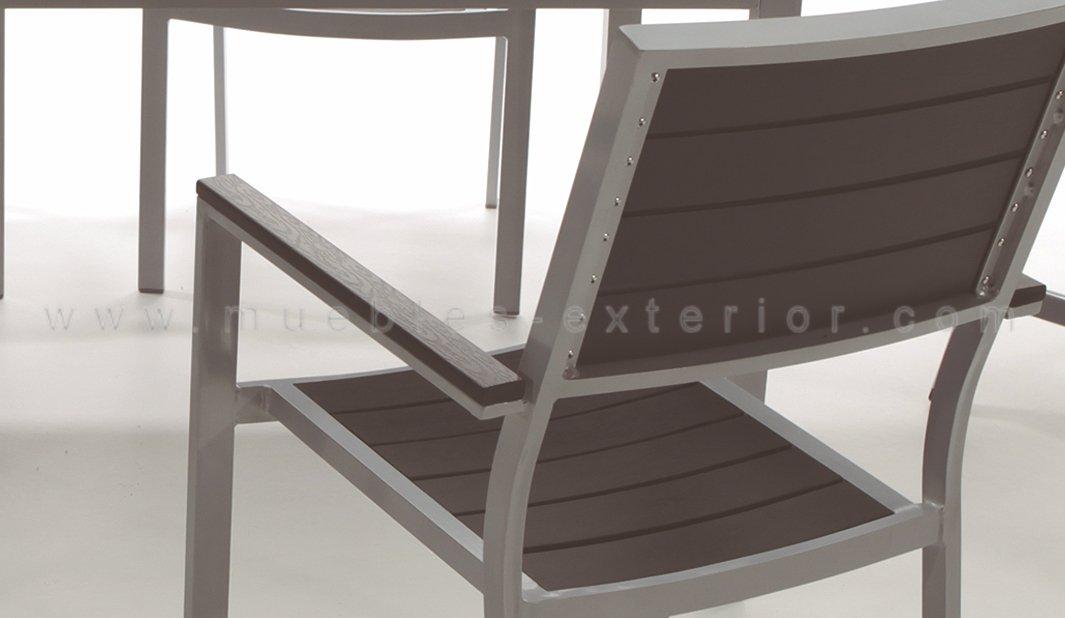 Silla de exterior lloret for Muebles de jardin de resina de equilibrio
