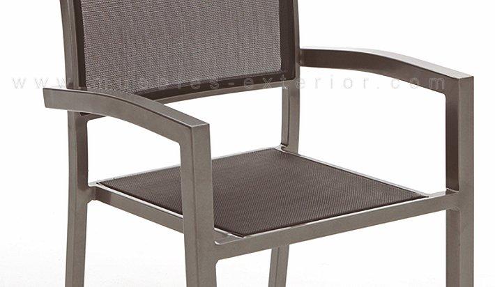 Silla De Terraza Aluminio Gris Antracita