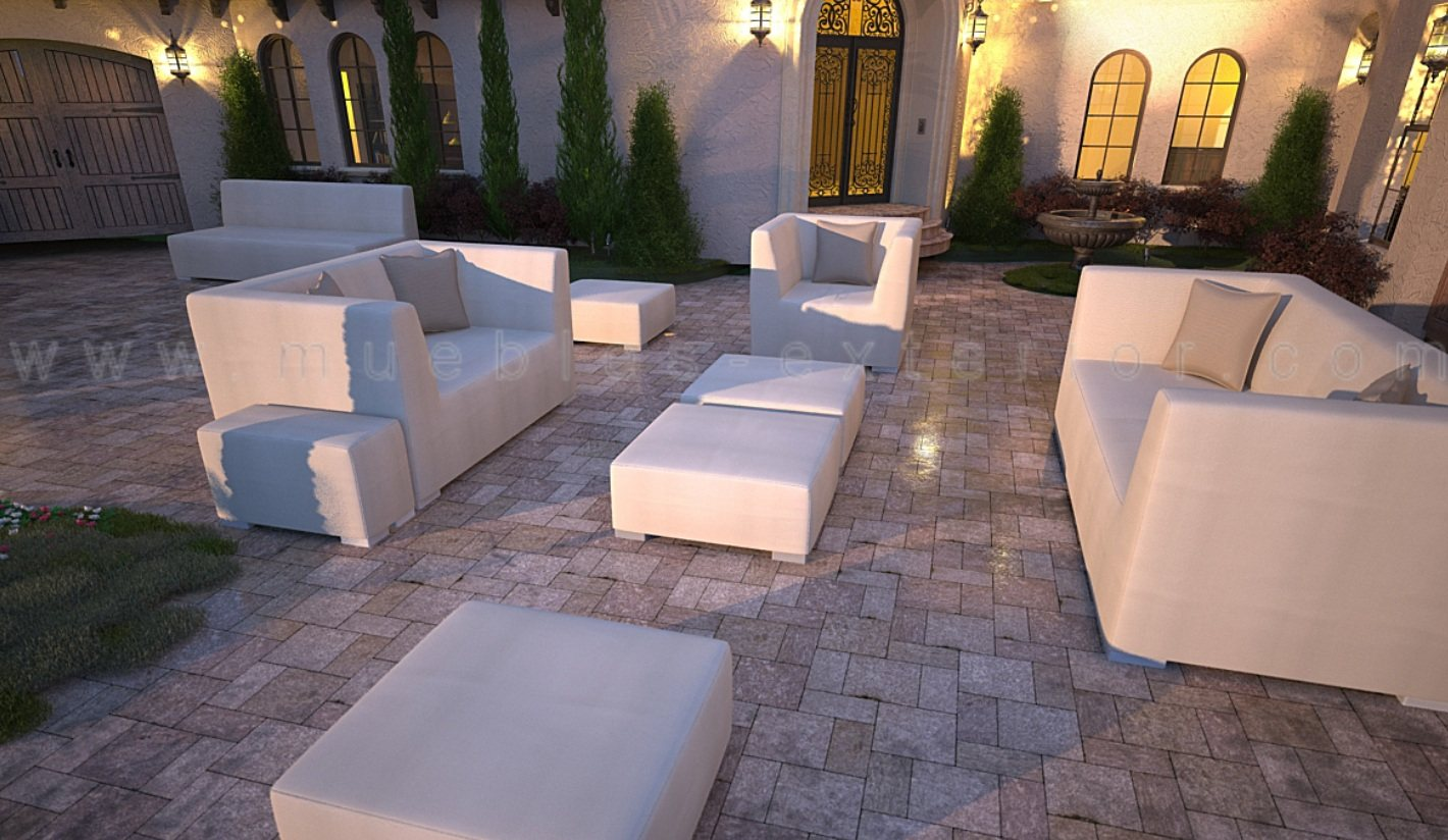 Puff jard n 73 x 90 5 impermeable - Muebles de resina para exterior ...