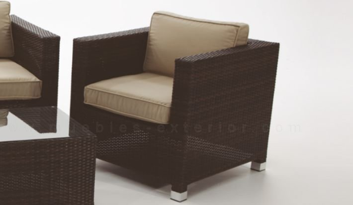 Sofa de jardin 1 plaza madri for Sofa exterior jardin