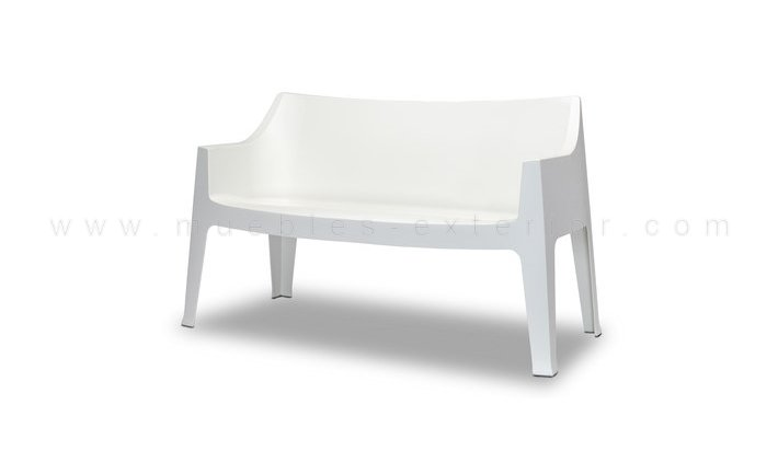 Sof de exterior benitachel 2 plazas for Sofa exterior blanco