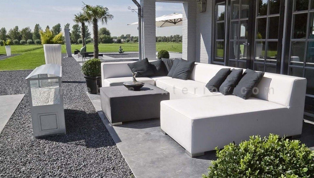 Sill n rinconera impermeable 90 5 x 90 5 cm for Sofa exterior impermeable